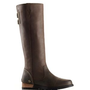 Sorel | Major Tall Brown Leather Buckle Boots